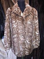Норковая шуба полушубок удлиненный из натуральной норки 44 размер шуба норковая горностай рассрочка обмен, фото 1