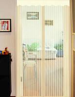 """Москитная сетка для балконных дверей шторка на сплошных магнитах """"птичка"""" 1 х 2.10м айвори"""