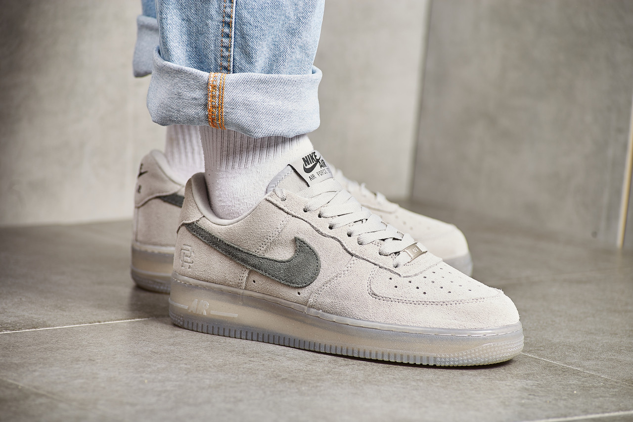 the latest 5875b cfd37 Мужские кроссовки Reigning Champ x Nike Air Force 1 Low '07 LV8 Suede Light  Grey