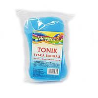 Губка банная с массажным слоем TONIC, пористая, упаковка — 1 шт