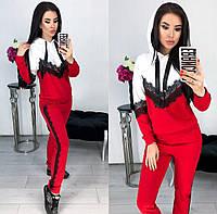 Модный женский костюм ( кофта и штаны ) из двунитки с капюшоном