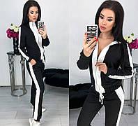 Модный женский спортивны костюм кофта + штаны из двунитки 42 - 48 рр