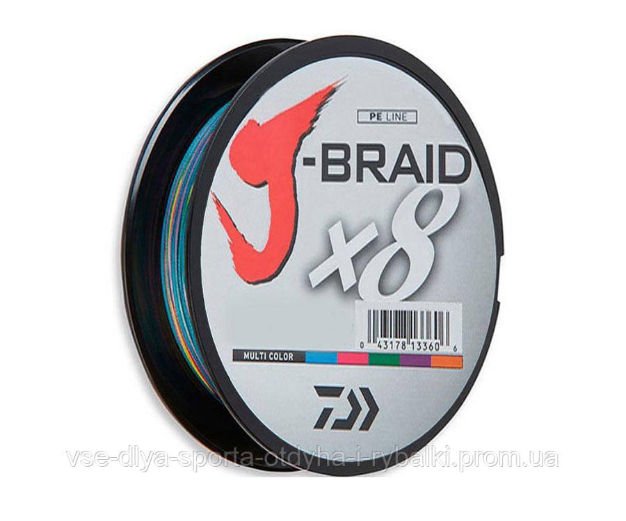 Шнур Daiwa J-Braid X8 0,16mm 150m Multi Color