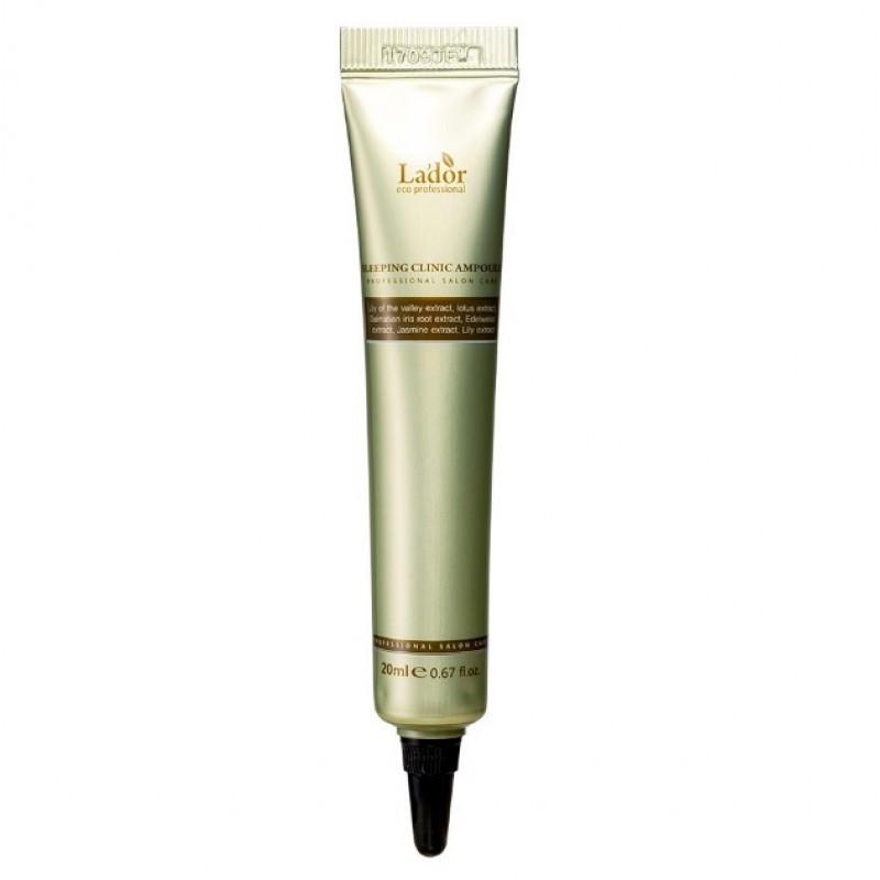 Ночная кератиновая сыворотка для волос La'dor Keratin Power Fill Up Sleeping Clinic Ample 20 мл