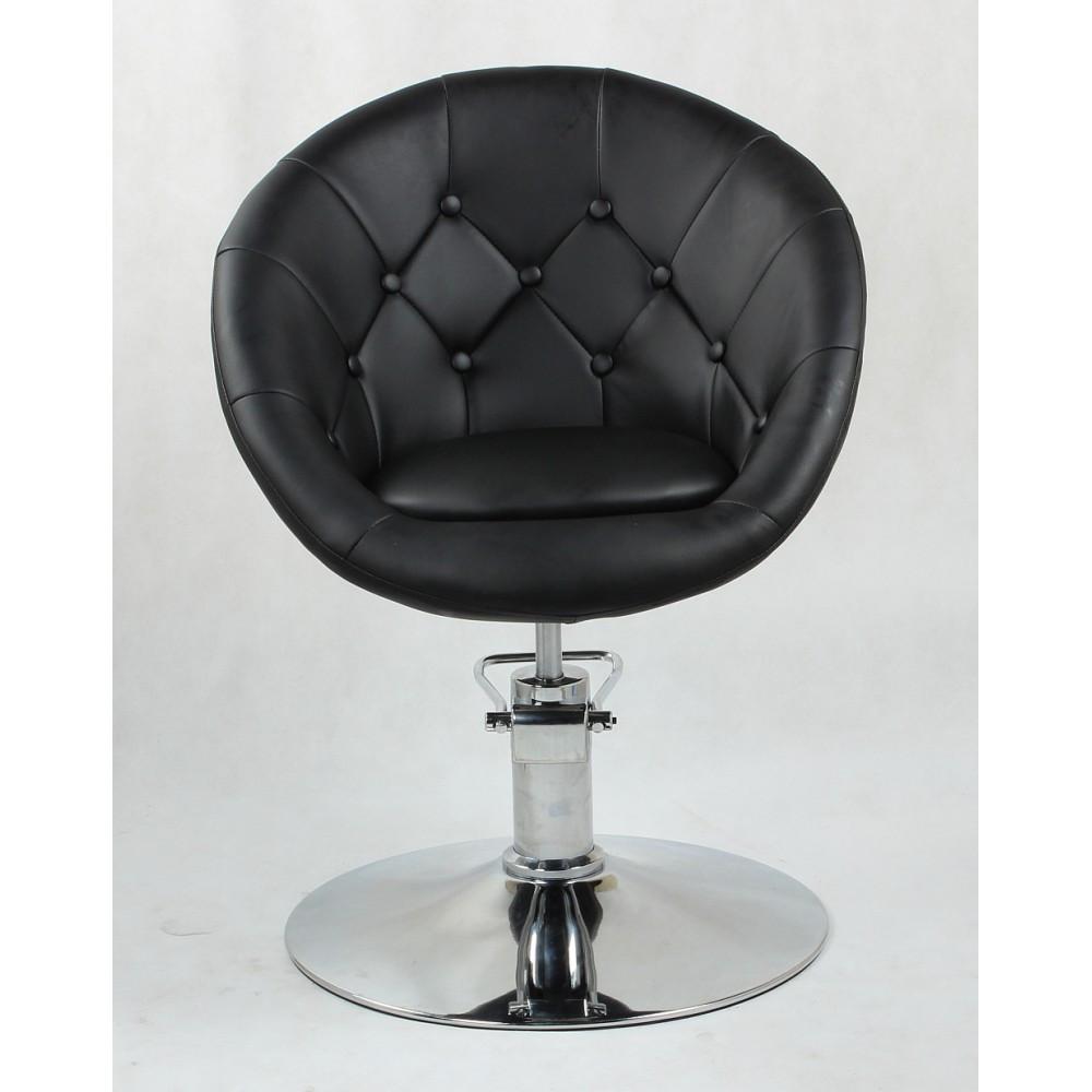 Парикмахеское кресло  HC8516H Черный, Пуговицы