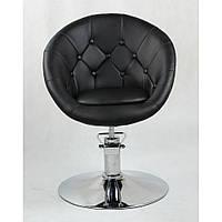 Парикмахеское кресло  HC8516H Черный, Пуговицы, фото 1
