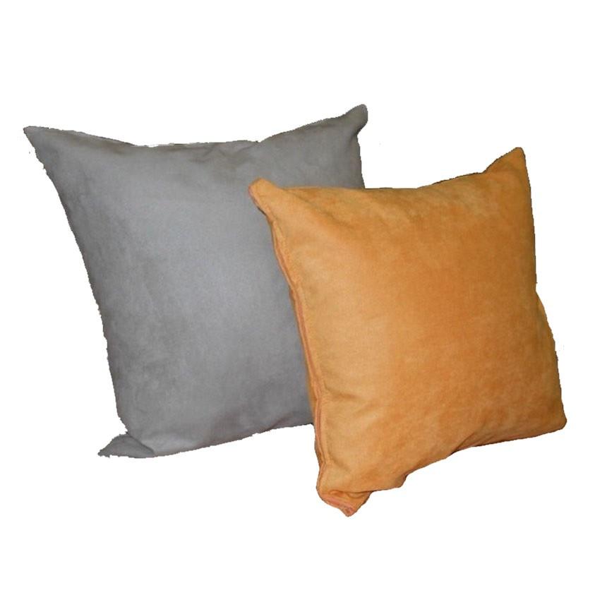 Декоративная квадратная подушка из искусственной замши