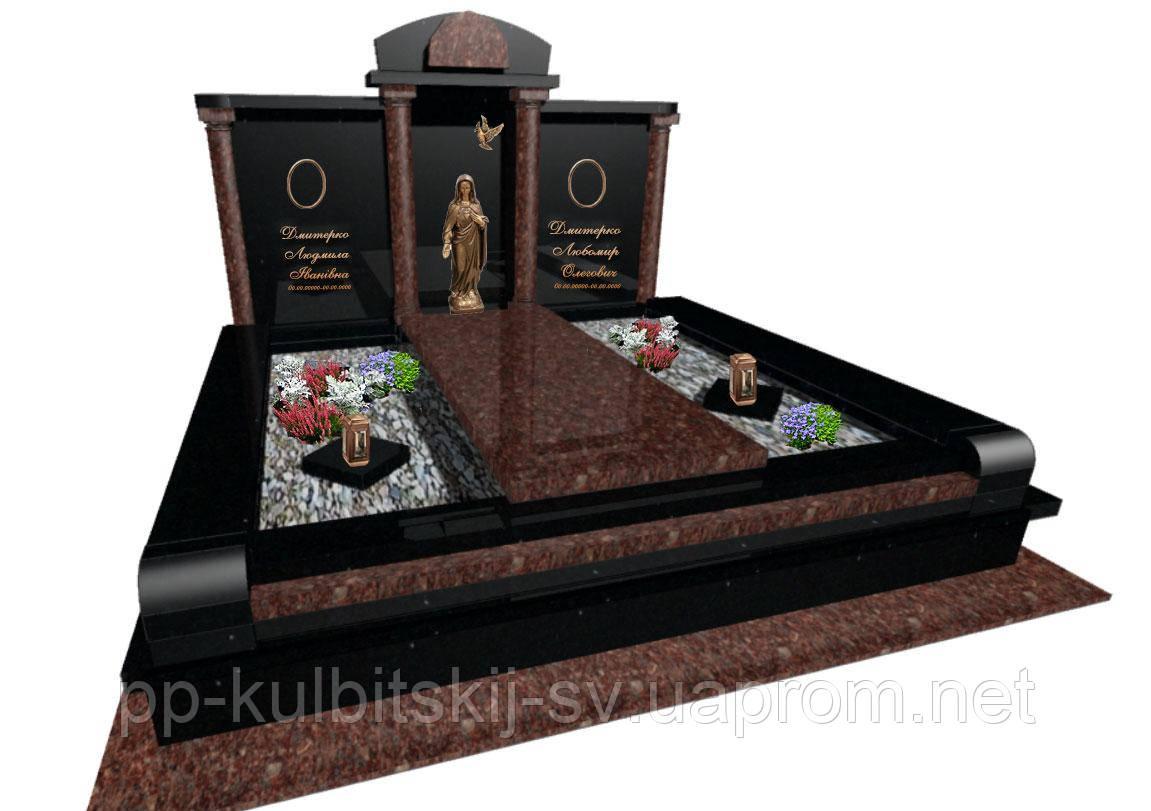 Пам'ятник ексклюзивний надгробний гранітний з Токівського граніту S5105