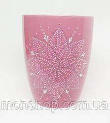 Роспись, ручная работа. Чашка розовый 330 мл