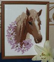 Набор для вышивания крестиком Лошадь. Размер: 16,8*20 см.