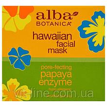 Alba Botanica, Гавайская маска для лица с энзимом папайи,  (85 г)