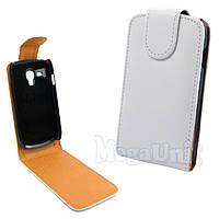 Откидной чехол-флип для Samsung Galaxy S3 mini (i8190) Белый