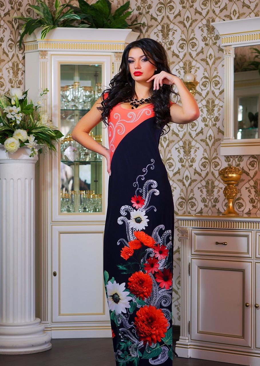 Женские летние платья с цветочным орнаментом