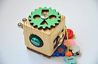 Бизикубик с выключателем и песочными часами, серебро, фото 1