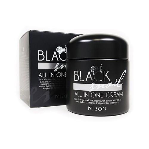 Многофункциональный крем с муцином черной улитки Mizon Black Snail All In One Cream