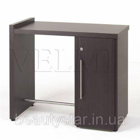 Компактный маникюрный стол однотумбовый с подставкой для ног VM116 небольшой маникюрный столик 100х80х50