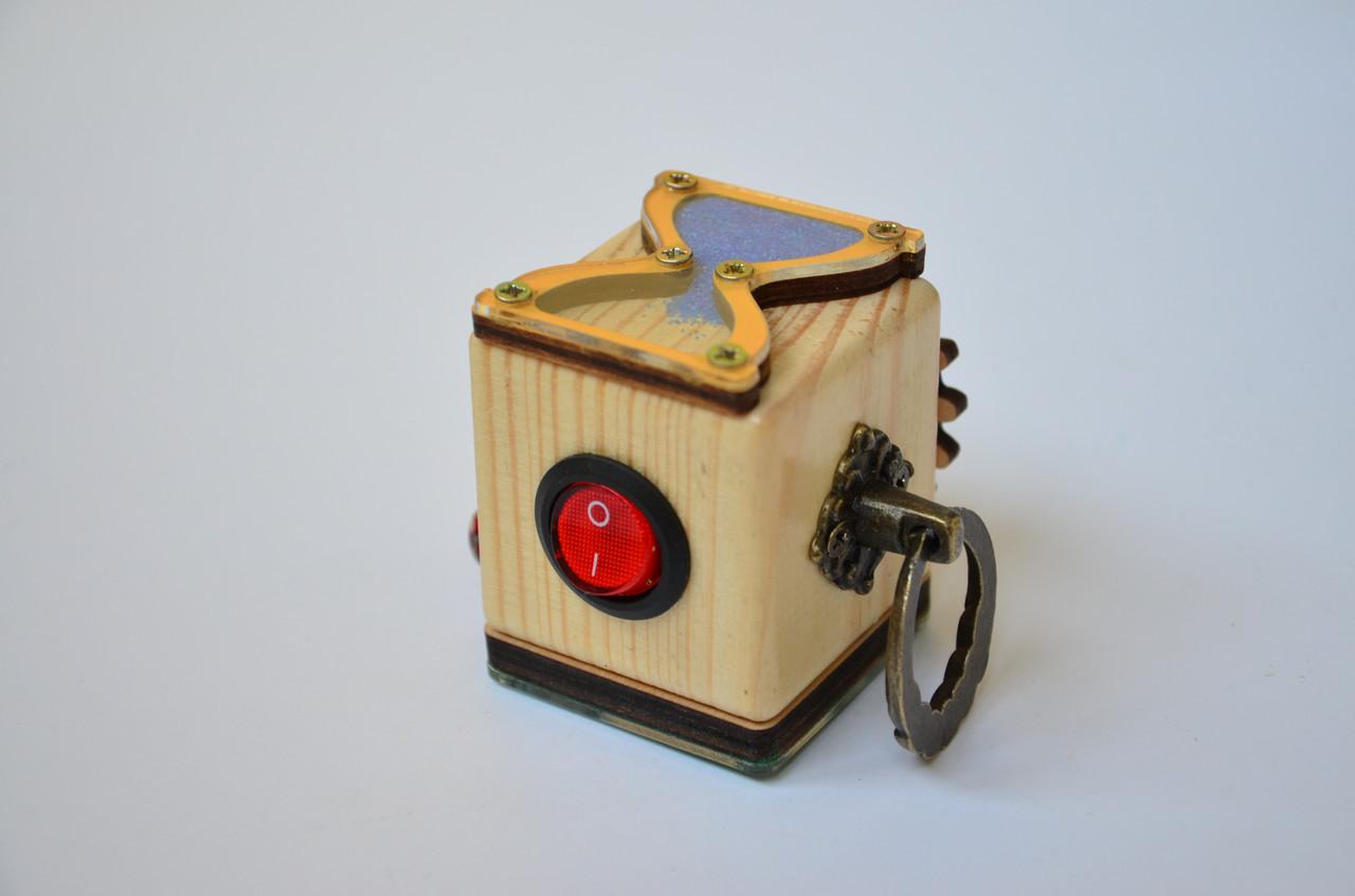 Бизикубик с выключателем, без замочков, бронза