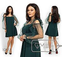 ffb3d07cd57 Нарядное платье женское на бретельках (3 цвета) - Зеленый VV -0130