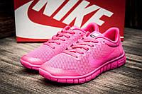 Кроссовки женские  Nike Free Run 3.0, розовые (2509-2), р [  36 (последняя пара)  ]