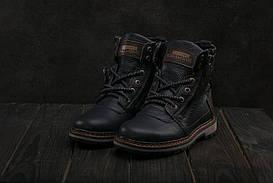 Ботинки Zangak 136 (зима, подростковые, кожа, черный)
