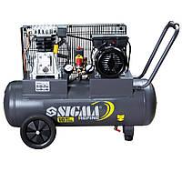 Компресор ременной двухцелиндровый 2КВТ 385л/мин 10бар  50Л SIGMA REFINE  (7044021)