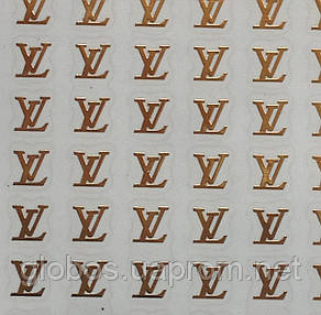 """Наклейка на ногти металлизированная золотая  2D  """"GLOBOS"""" логотип  IGK16G, фото 2"""