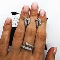 Набор украшений из серебра 925 My Jewels серьги + кольцо в стиле Cartier Juste Un Glou, фото 1