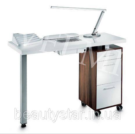 Маникюрный стол для маникюра 115х79х50 столик для маникюрного салона однотумбовый VM103