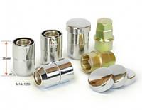 Гайки секретные M14x1,5x36; Конус, Хром, Vector 406448X2 - комплект (два ключа), закр. с кольцом
