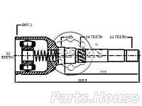 Шрус внутренний правый INTERPARTS CH322514