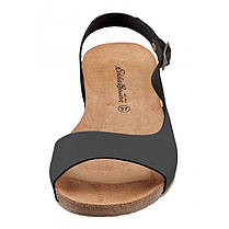 Босоножки женские Eddie Bauer Womens Leather Antique Look Sandals BLACK, фото 2