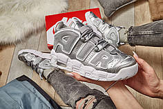 "Женские кроссовки Nike Air More Uptempo ""Loud and Clear"" Metallic Silver White ( Реплика )"