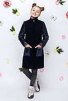 Демисезонное пальто для девочек 134,140,146,152,158,164рост