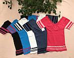 Женская футболка утягивающая сзади с вышивкой, фото 2