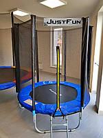 Батут Just Fun 183 6FT з сіткою синій