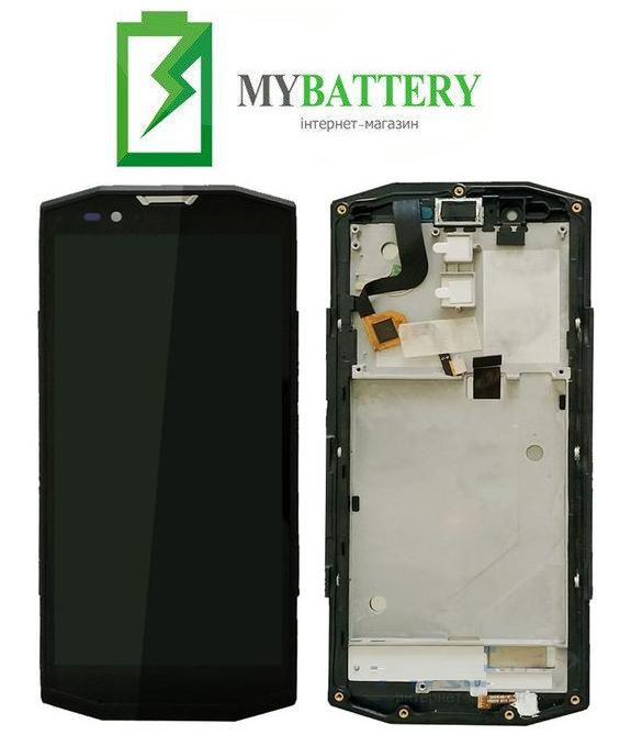 Дисплей (LCD) Blackview BV9000 Pro с сенсором чёрный + рамка