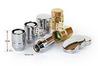 Гайки секретные M12x1,5x32; Конус, Хром, Vector 416345X2 - комплект (два ключа), закр. с кольцом
