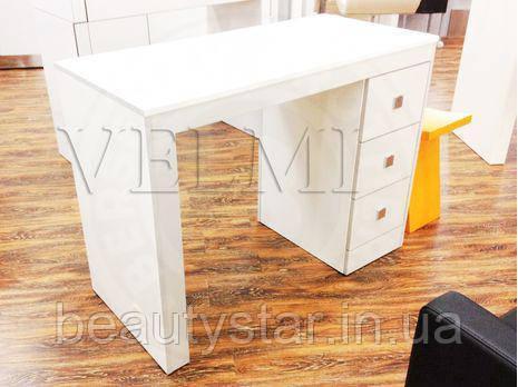 Маникюрный Стол однотумбовый компактный 107х80х50 БонусVM112 стильный маникюрный столик на 3 ящичка