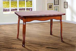 """Розкладний стіл """"Гаїті"""" (горіх, масив дуба) 160см"""
