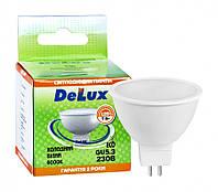 Лампа світлодіодна DELUX JCDR 7Вт 6000K 220В GU5.3 холодний білий