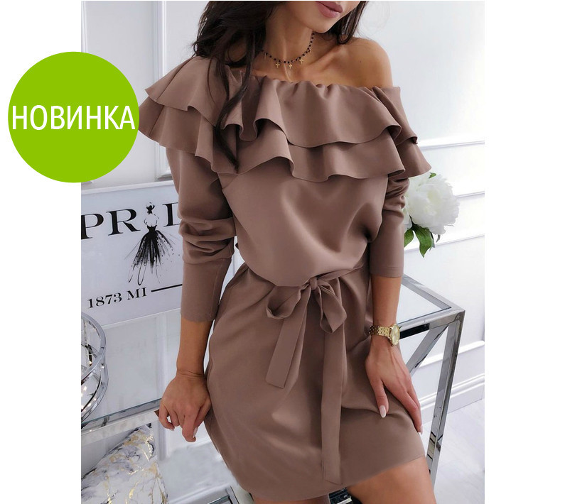 """Стильное платье с воланом """"Лилит"""""""