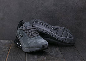 Кроссовки AМ831-2 (Nike Air 270) (зима, мужские, замш, серый)