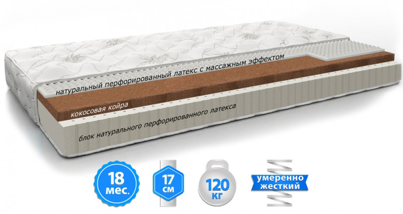 Матрас Doctor Health Orthopedic Balance/Ортопедик Баланс 80х190 (ЕММ-ТМ)