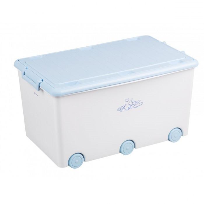 Ящик для игрушек Tega Rabbits KR-010 (белый/голубой(white/blue))