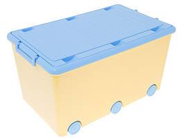 Ящик для игрушек Tega Chomik MIX IK-008 (желтый/голубой(yellow/light blue))