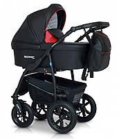 Детская коляска универсальная 3 в 1Verdi Sonic Plus 01 black/red (Верди, Польша)