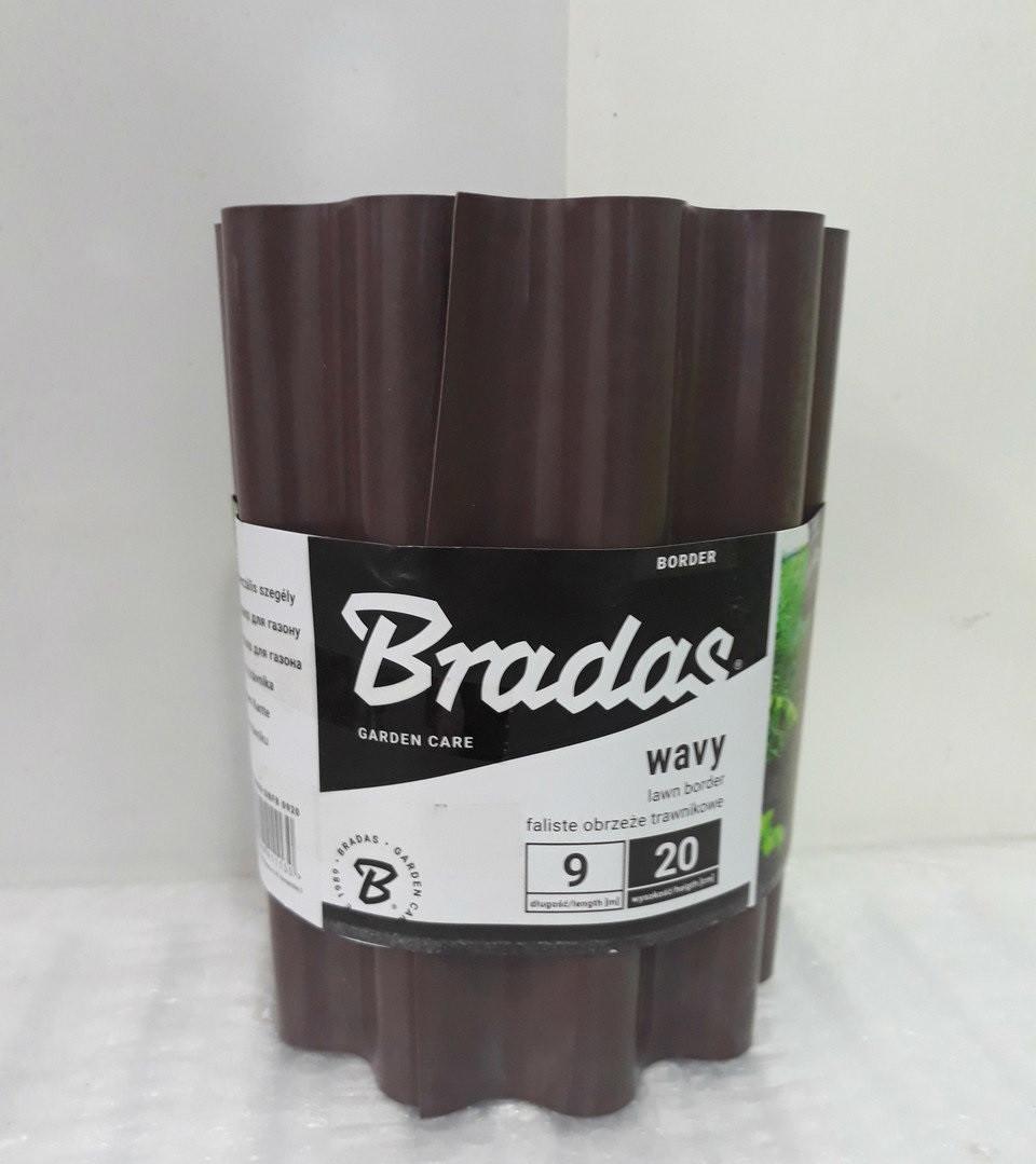Бордюр садовый волнистый Bradas 20смх9м Польша