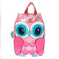 Рюкзак детский розовый голографический Совушка фирмы Claire's ( оригинал )