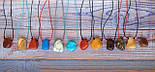 Камінь на шнурку   Говлит оберіг   Натуральний камінь з отвором, фото 5