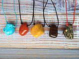 Камінь на шнурку   Говлит оберіг   Натуральний камінь з отвором, фото 3